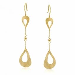Boucles d'oreilles en or jaune, gouttes