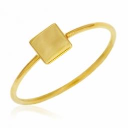 Bague en or jaune, carré