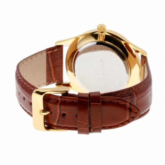 montre homme bracelet cuir blanc