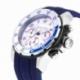 Chronographe homme étanche 50m, boîte acier,bracelet silicone et verre minéral - B