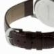 Montre homme, boîte acier, bracelet cuir et verre minéral - C
