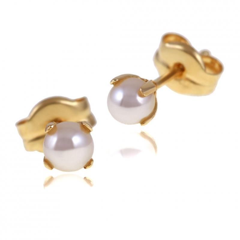 achat boucles d 39 oreilles femme or jaune g perle de culture 0 4 ct le man ge bijoux. Black Bedroom Furniture Sets. Home Design Ideas