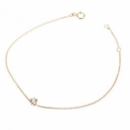 Bracelet en or jaune, oxyde de zirconium