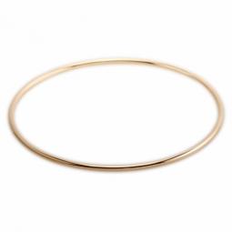 Bracelet jonc en or jaune, fil rond 2 mm