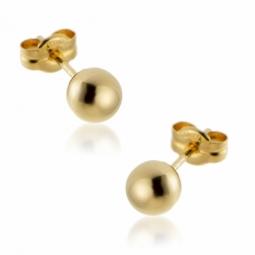Boucles d'oreilles en or jaune 5 mm