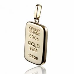 Pendentif lingot en or jaune