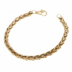 Bracelet en or jaune, maille palmier 5 mm