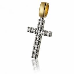 Croix en deux ors et diamants