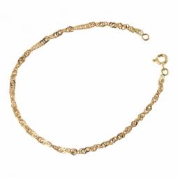 Bracelet en or jaune maille gourmette torsadée