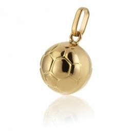 Pendentif en or jaune, ballon de foot