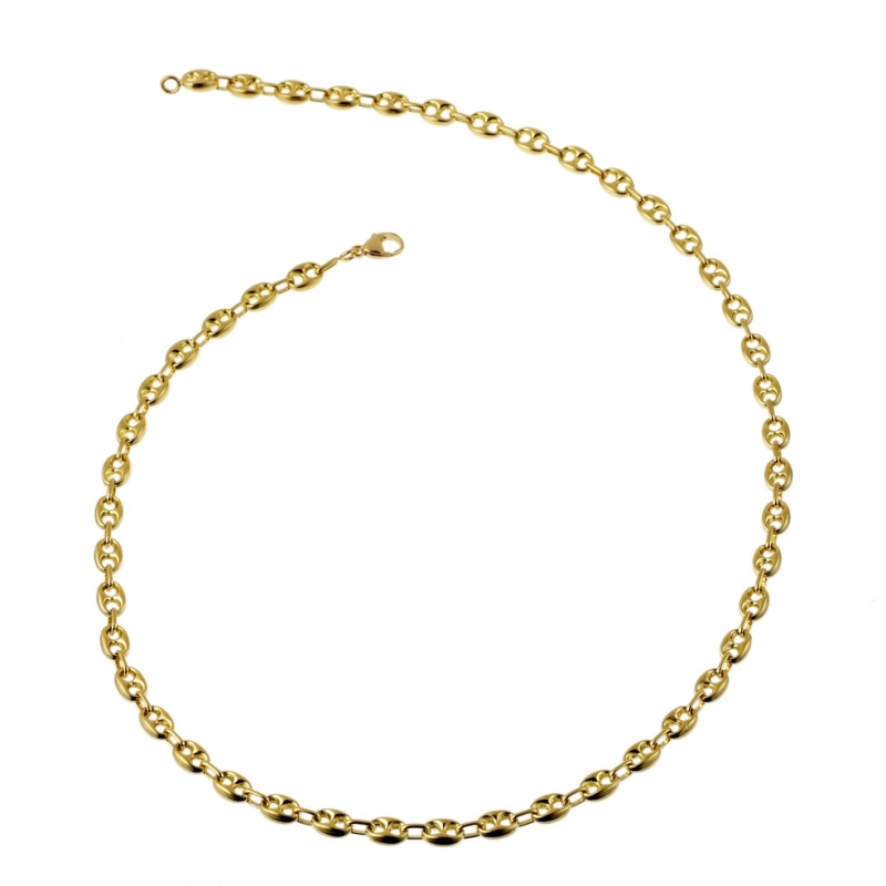 collier or 750 homme