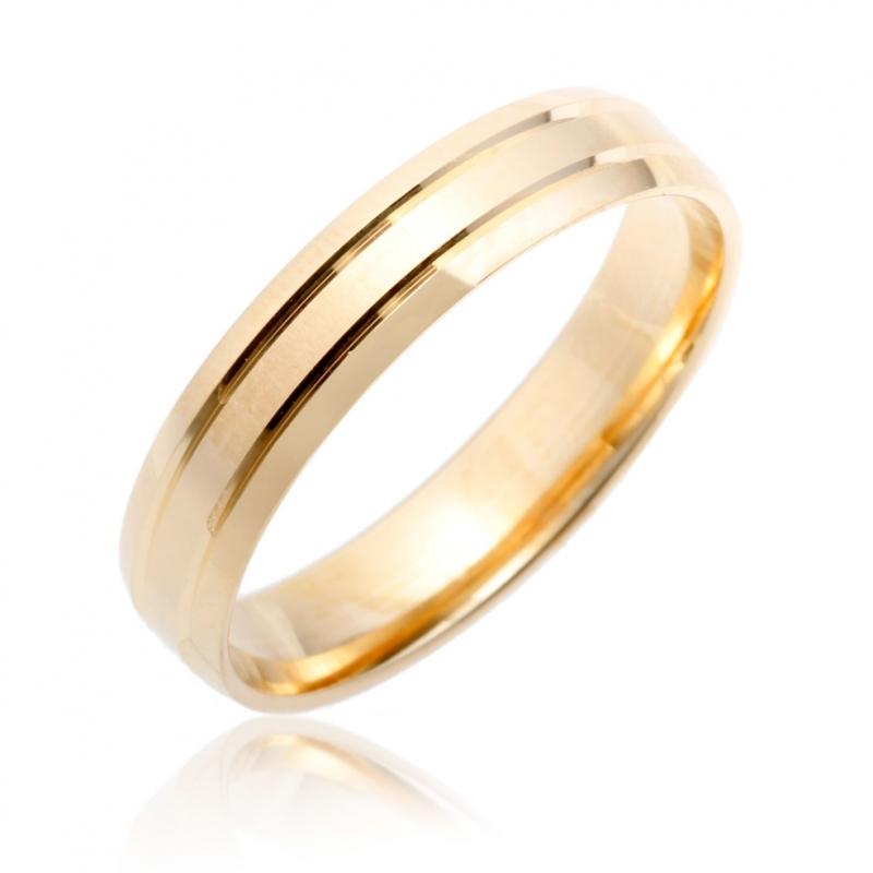 achat alliance or jaune 750/ooo homme - 2.82 g - le manège à bijoux®