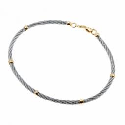 Bracelet jonc bébé en or jaune et acier
