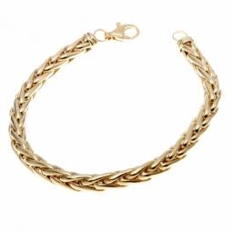 Bracelet en or jaune, maille  palmier 6 mm