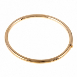 Bracelet jonc en or jaune ouvrant, fil 4 mm