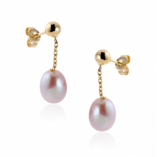 boucles d oreilles or jaune perle de culture bijoux la. Black Bedroom Furniture Sets. Home Design Ideas