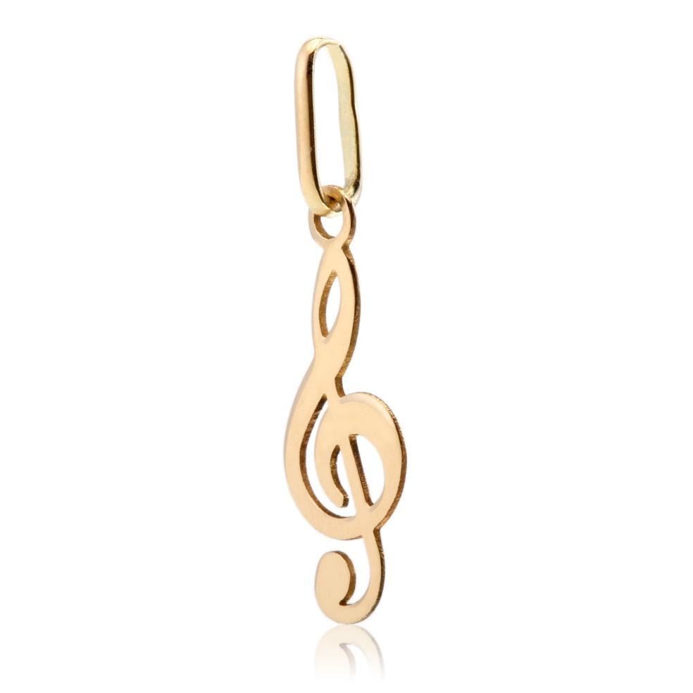 pendentif note de musique or