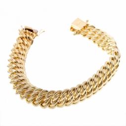 Bracelet en or jaune,  maille americaine 11.2 mm - 11.6 mm