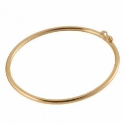 Bracelet jonc bebe or jaune flexible 2mm