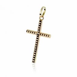 Croix en or jaune facetée