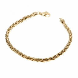 Bracelet en or jaune,  maille palmier 4 mm