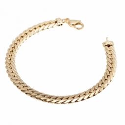 Bracelet maille anglaise 6,7 mm or jaune