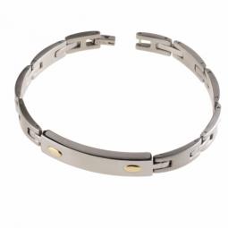 Bracelet en or jaune et acier
