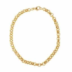Bracelet en or jaune, maille jaseron