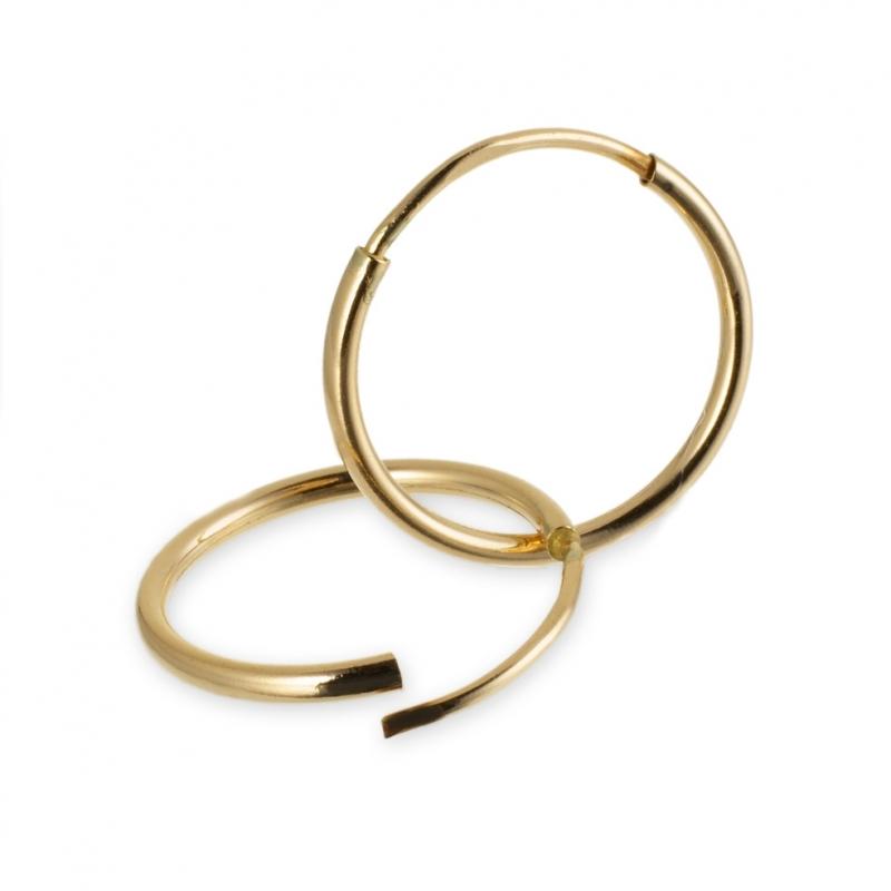 bas prix 5f934 c17bd Achat Créoles en or jaune, diamètre 12 mm : Longueur ...