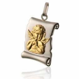 Médaille parchemin 2 ors, Ange