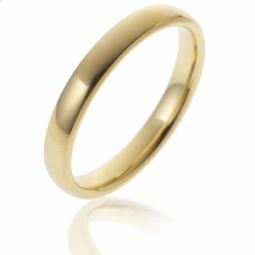 Alliance en or jaune, bombée, confort,  largeur 3,5 mm