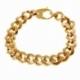 Bracelet en or jaune, maille gourmette - A