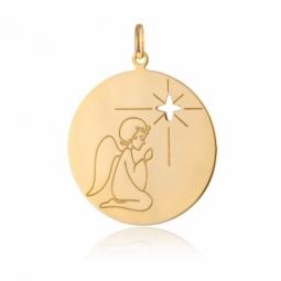 Médaille en or jaune, ange