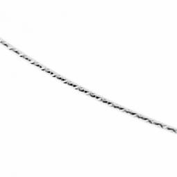 Collier cable en or gris et fil intérieur en titane