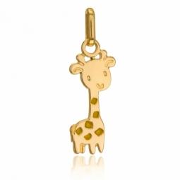Pendentif en or jaune et laque, girafe
