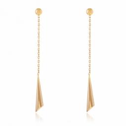 Boucles d'oreilles pendantes en or jaune
