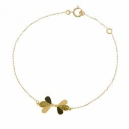 Bracelet en or jaune, laque noire et laque pailletée