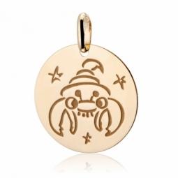 Médaille zodiaque en or jaune, scorpion