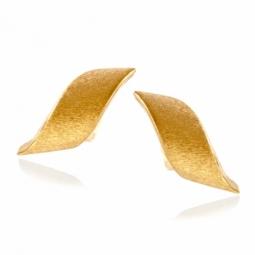 Boucles d'oreilles en or jaune satiné