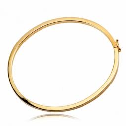 Bracelet jonc ouvrant fil carré en or jaune