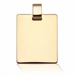 Pendentif en or jaune, plaque rectangle