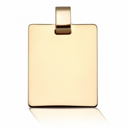 Pendentif en or jaune, plaque rectangle
