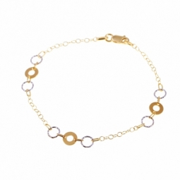 Bracelet en deux ors