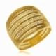 Bague en or jaune, ajourée - A