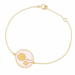 Bracelet en or jaune et laque