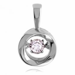 Pendentif en or gris et diamant