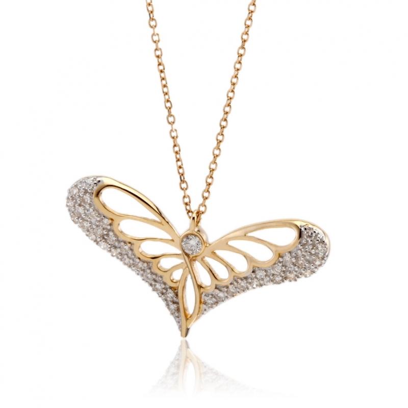 Achat Collier En Or Jaune Rhodie Et Diamants Longueur 42 Femme