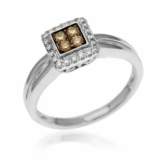 Bague 4 diamants