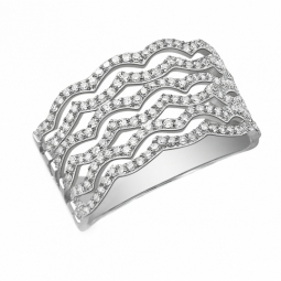 Bague en or gris et diamants 0.50 ct