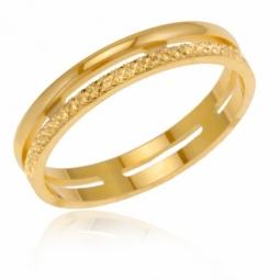 Alliance en or jaune, fantaisie ajourée 3.5 mm